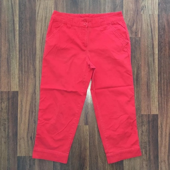 9d8f9daa842d7 🔴Kim Rogers size 8 Red Capris Cropped Pants